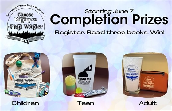 Summer Reading Program Prizes for All Ages