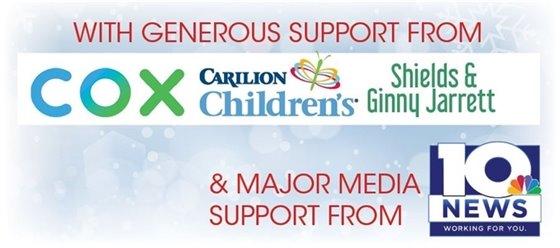 Illuminights sponsors are COX, Carilion Children's, Shields & Ginny Jarret. Major media support from WSLS-10.