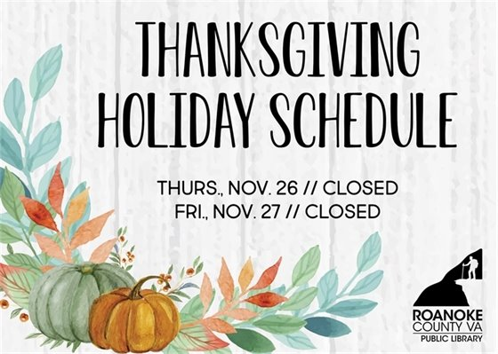 Thanksgiving Schedule