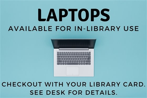 Laptops Available for In-Library Use