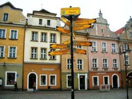 Sister Cities sign in Opole.