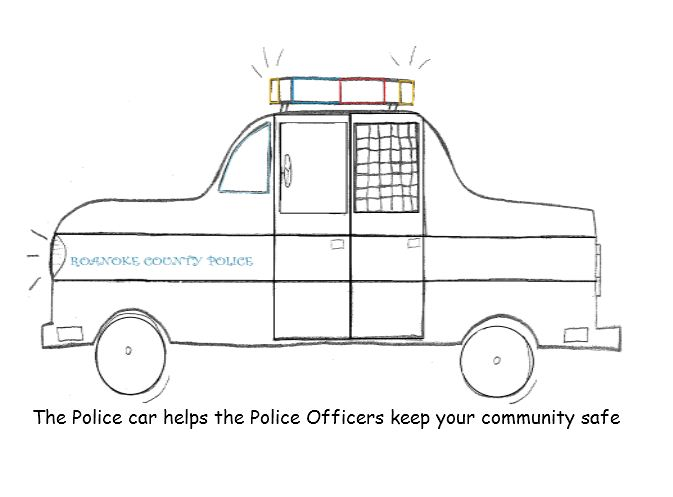 The Police car helps the Police Officers keep your community safe