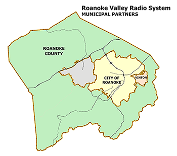 Roanoke Valley Radio System Map