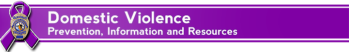 Domestic Violence prevention information and resources