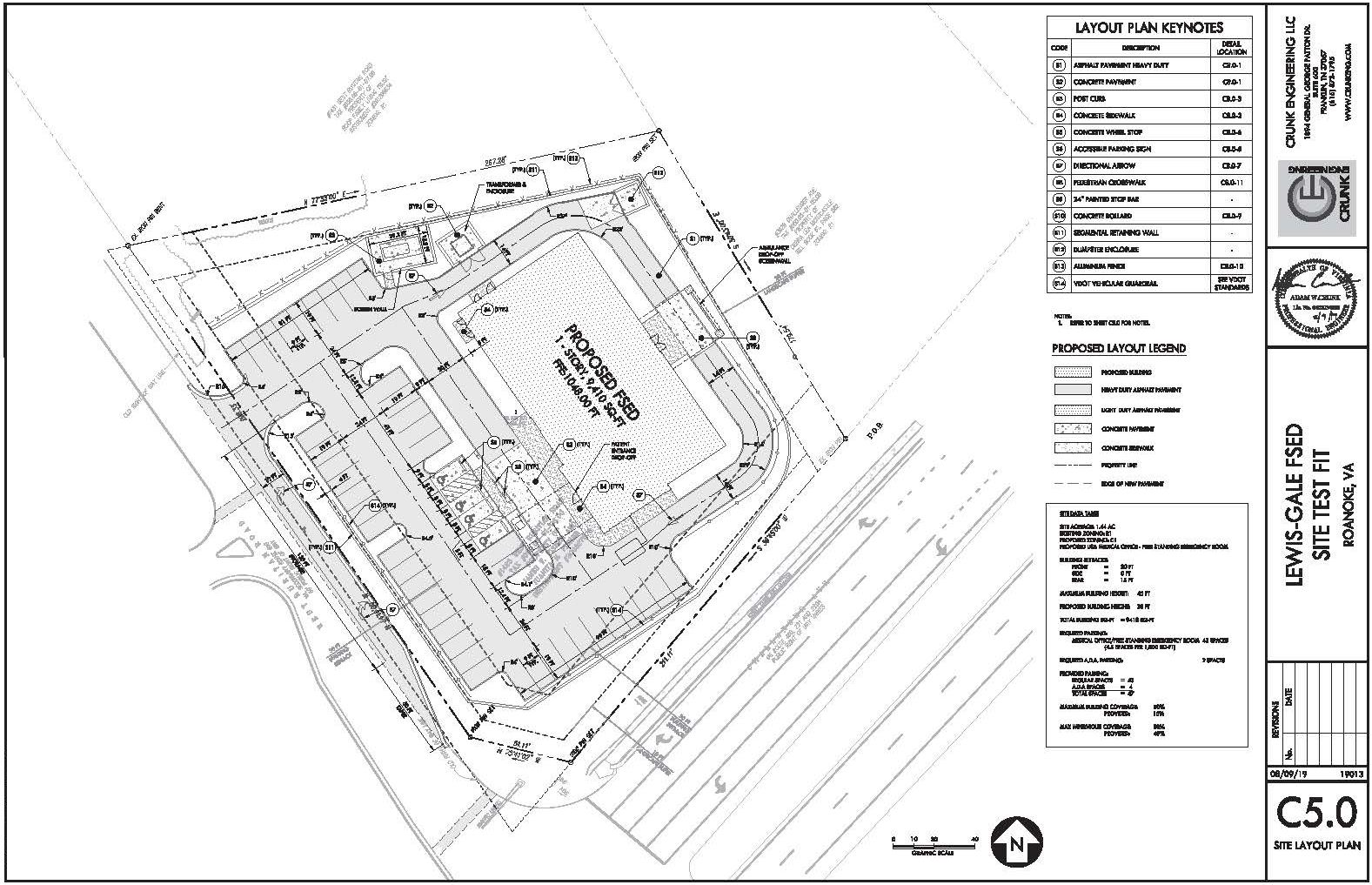 Free Standing Emergency Room Site Plan