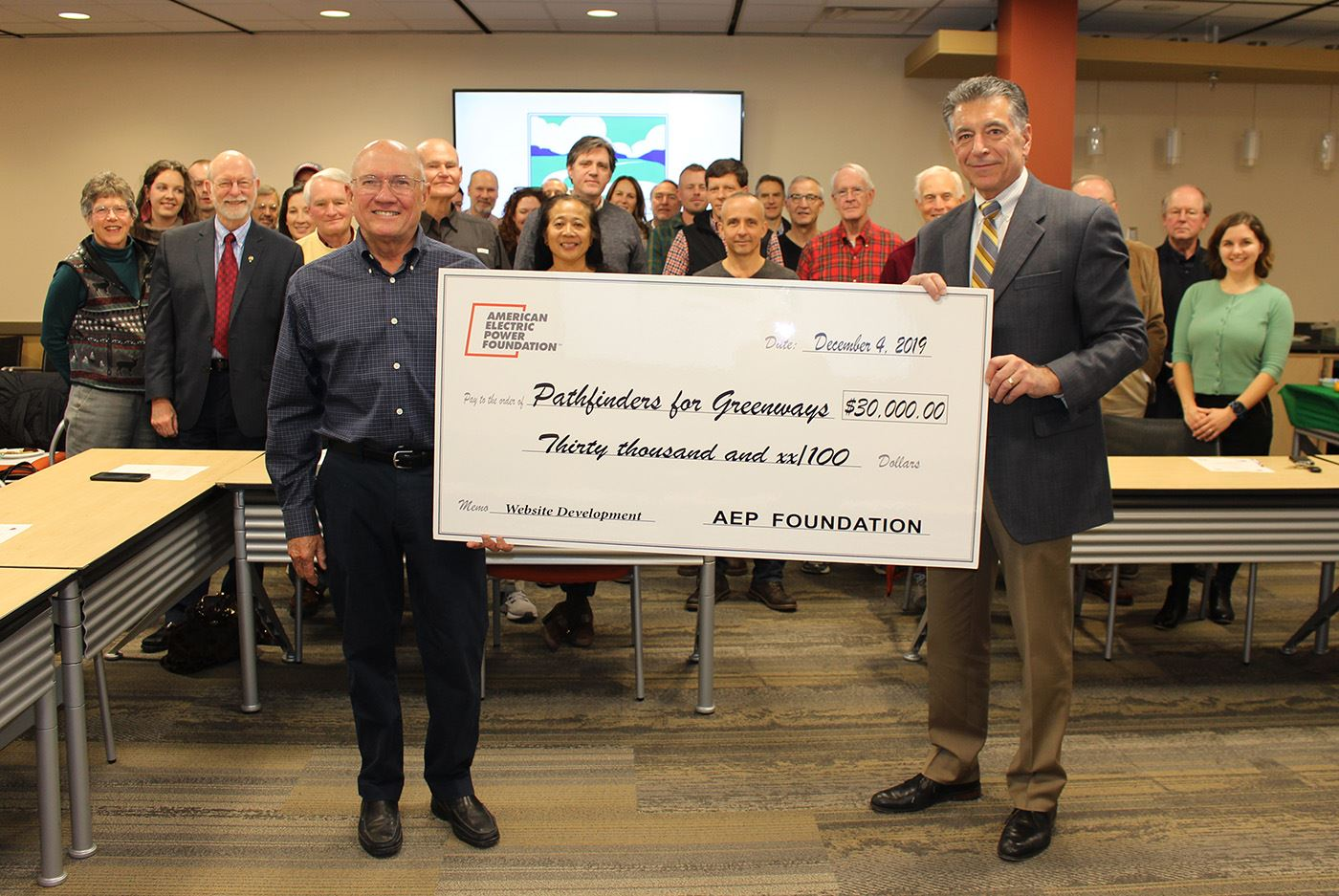 AEP Donation to Roanoke Valley Greenways