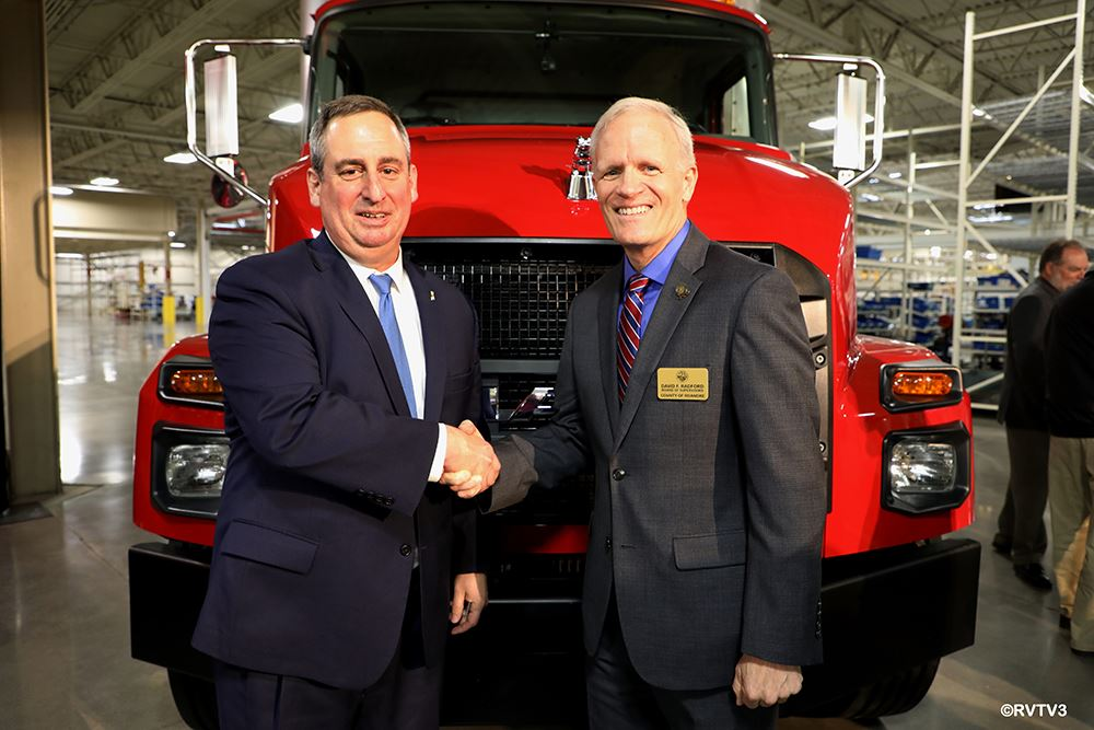 Mack President Martin Weissburg and Chairman David Radford