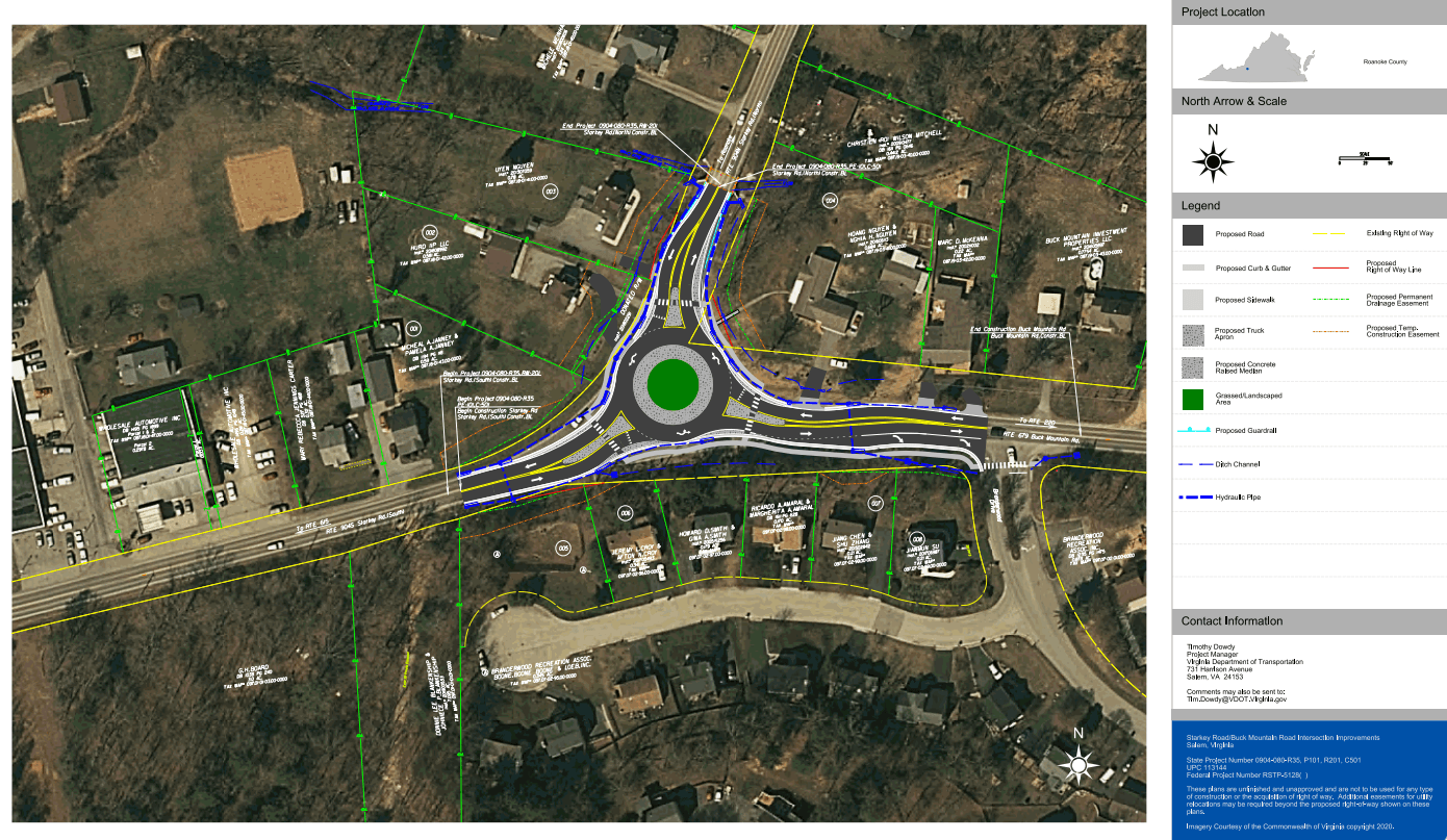 Starkey Rd. Roundabout Project Overlay, Aerial View