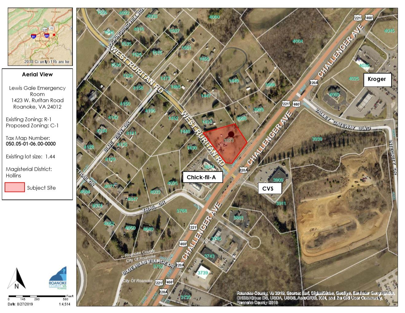1423 West Ruritan Road Location Map