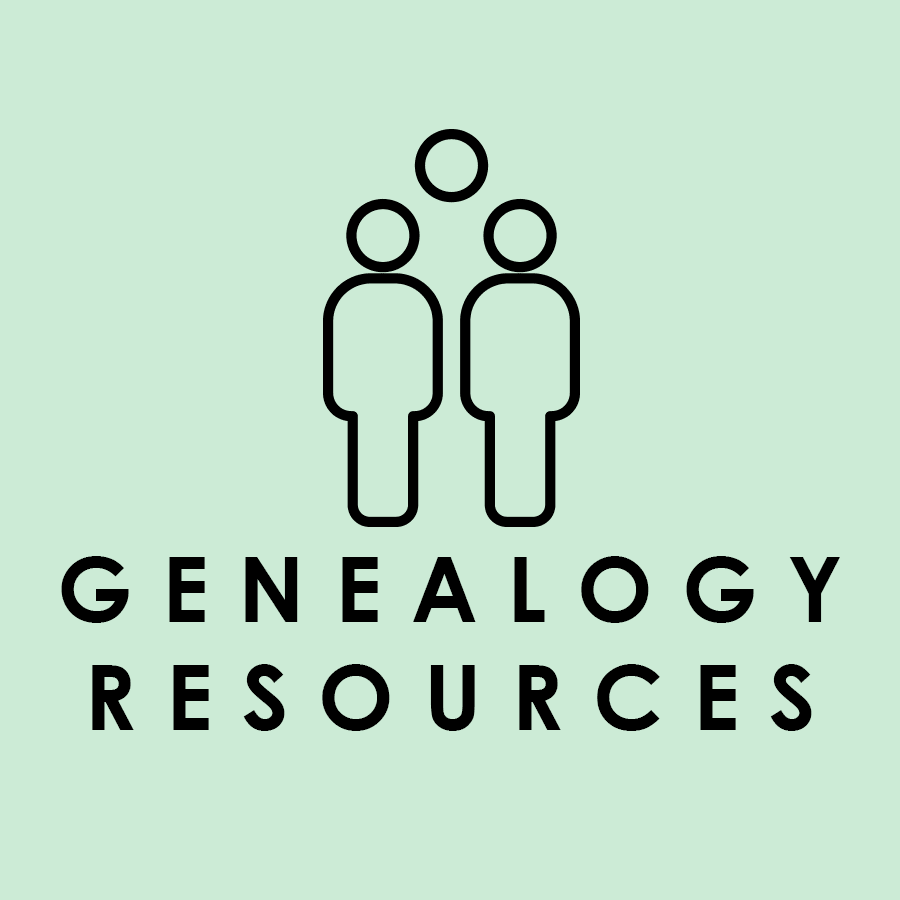 Genealogy Resources Databases Icon Opens in new window