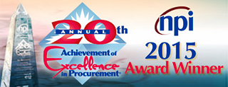 NPI 2015 Achievement of Excellence in Procurement Award