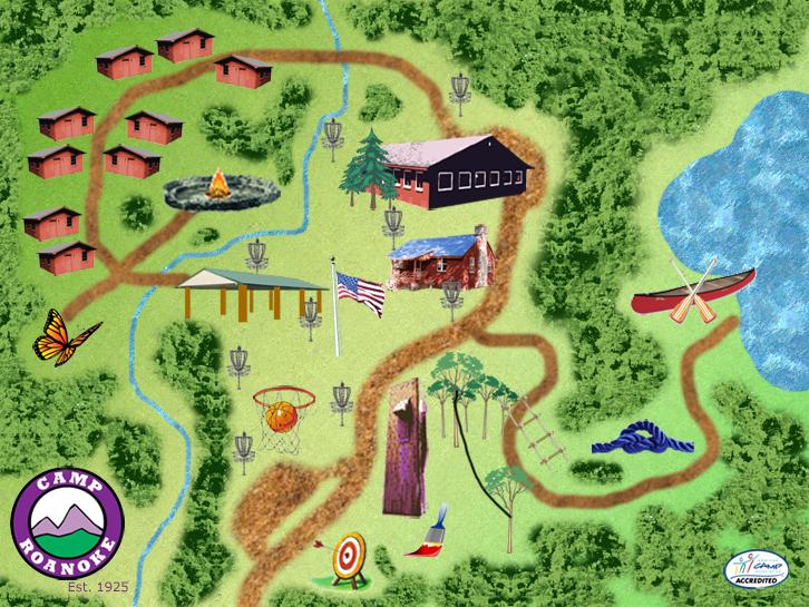 Camp Roanoke Map
